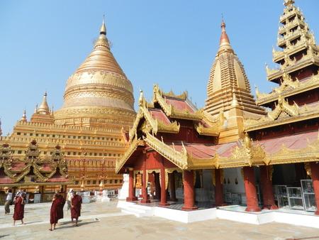 architecture alphabet: Shwezigon Paya, Nyaung U, Bagan, Myanmar Editorial