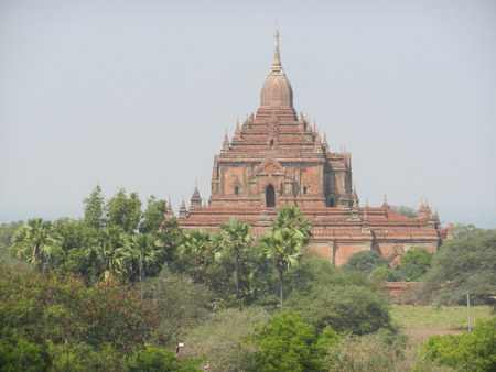 3d temple: Htilominlo Pahto, Bagan, Myanmar Stock Photo