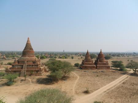 bagan: Bagan pagodas seen from Buledi, Bagan, Myanmar