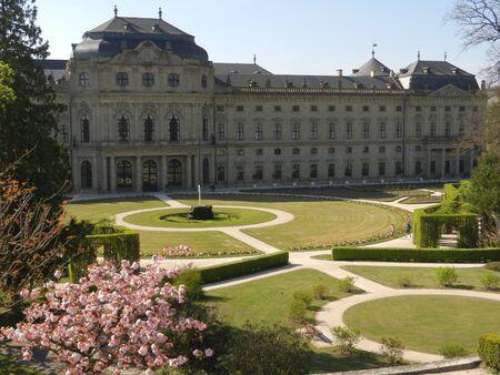 the residence: Wurzburg Residence garden court, Franconia, Bavaria, Germany