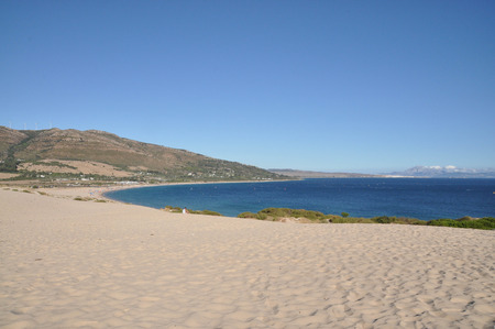 duna: Duna de Valdevaqueros, Tarifa, Andalusia, Spain Stock Photo