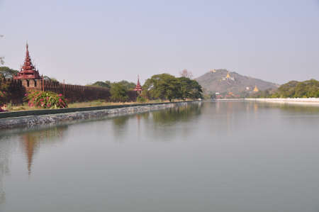 moat: Mandalay Hill and Fort moat, Myanmar