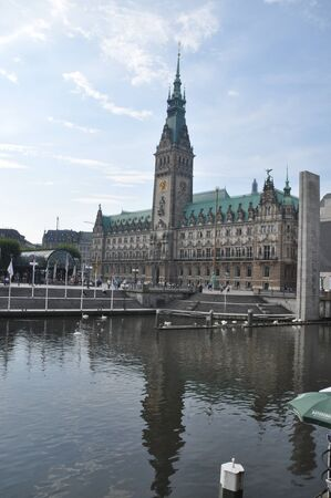 hamburg: Hamburg City Hall, Germany Editorial