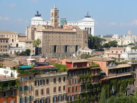palatine: View from Palatine Hill, Rome, Italy Stock Photo