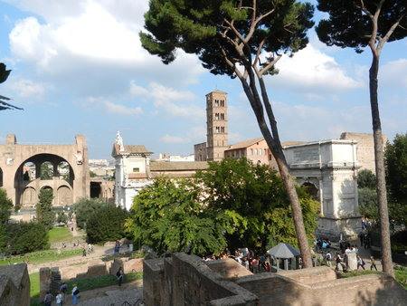 palatine: The Roman Forum from Palatine Hill, Rome, Italy
