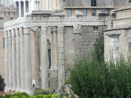 Le Forum romain, Rome, Italie Banque d'images