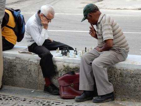 paseo: Chess players in the Paseo del Prado, Havana, Cuba Editorial