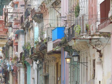 havana cuba: old buildings in Havana, Cuba