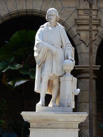 christopher columbus: Christopher Columbus statue, Plaza de Armas, Palacio de los Capitanes Generales, Havana, Cuba