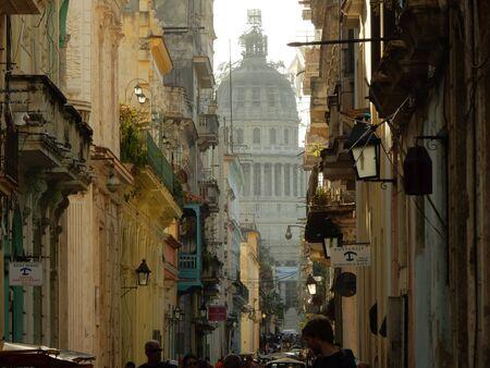 capitolio: Capitolio Nacional seen from Calle Brasil, Havana, Cuba