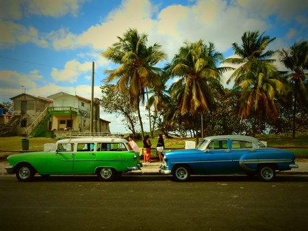 varadero: Classic American cars in Varadero, Cuba Editorial