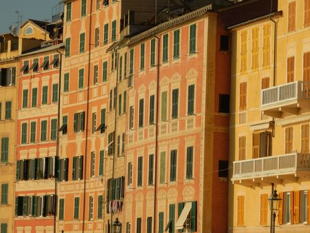 liguria: Colorful buildings in Camogli, Genoa Province, Liguria, Italy