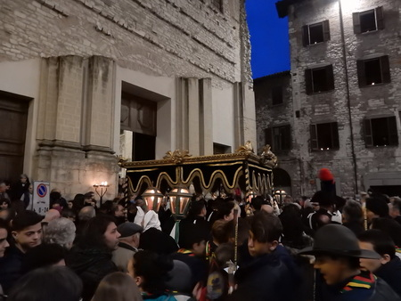 procession: The Good Friday Procession in Gubbio, Umbria, Italy Editorial