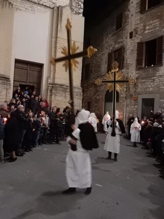 procession: Good Friday Procession, Gubbio, Umbria, Italy