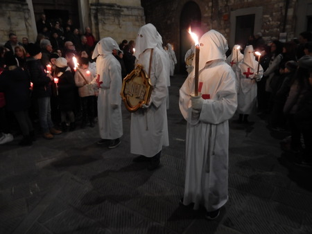 procession: Good Friday Procession, Gubbio, Umbria, Italy