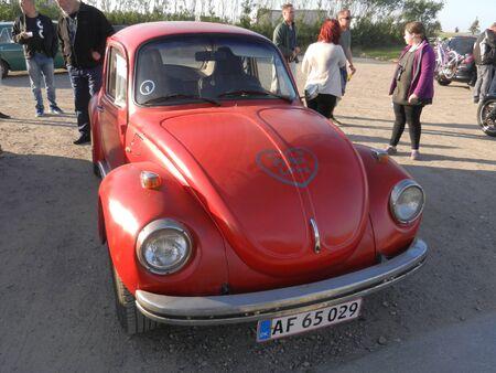 copenhagen: old red beetle, Copenhagen, Denmark
