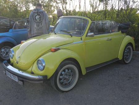copenhagen: old beetle yellow cabriolet, Copenhagen, Denmark