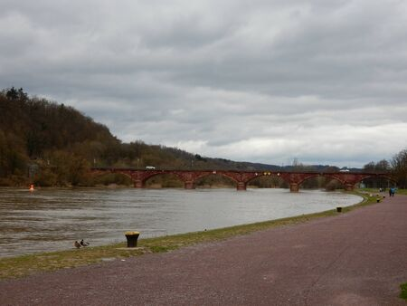in bavaria: Main River in Marktheidenfeld, Bavaria, Franconia, Main-Spessart, Germany