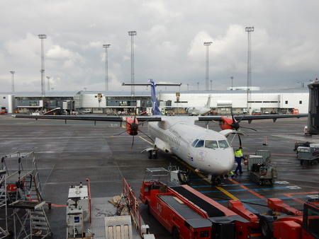turboprop: ATR 72 turboprop aircraft, Copenhagen Kastrup Airport, Denmark Editorial