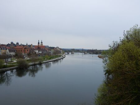 river main: Kitzingen old town on the River Main, Franconia, Bavaria, Germany