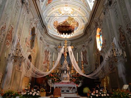 john the baptist: church of St. John the Baptist, Cervo, Liguria, Italy