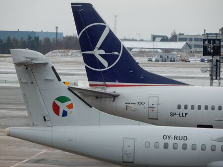 kastrup: B737 and ATR72 turboprop at Copenhagen Airport, Kastrup, Denmark