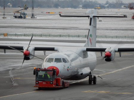 kastrup: ATR72 turboprop at Copenhagen Airport, Kastrup, Denmark Editorial