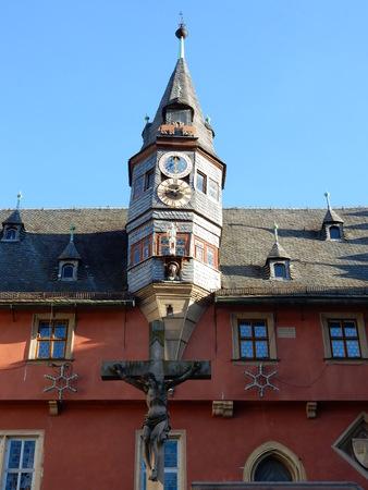 in bavaria: Ochsenfurt historical town hall, Franconia, Bavaria, Germany Stock Photo