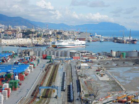 literas: Genoa harbor, Liguria, Italy