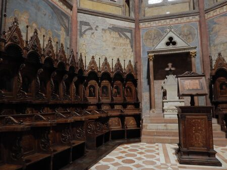 st  francis: Upper basilica St Francis, Assisi, Umbria, Perugia province, Italy Editorial