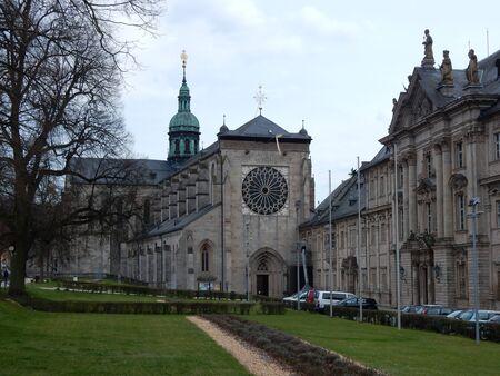 the abbey: Ebrach Abbey, Franconia, Bavaria, Germany