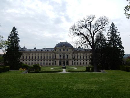 residences: the residences garden in Wurzburg, Franconia, Bavaria, Germany Editorial