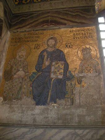 hagia sophia: a mosaic in Hagia Sophia, Istanbul, Turkey