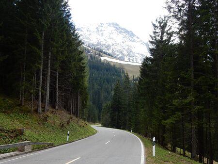 berchtesgaden: Rossfeld street, Berchtesgaden mountains, Bavaria, Germany Stock Photo