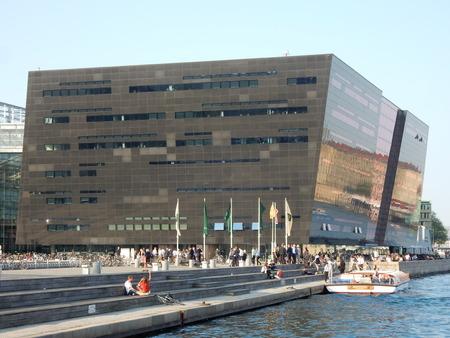 the black diamond: La biblioteca de diamante negro, Copenhague, Dinamarca