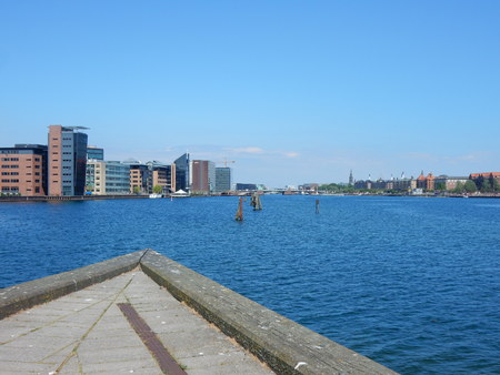 prow: Copenhagen, prow wharf, Denmark Stock Photo