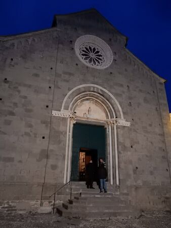 liguria: church in Corniglia, 5 Terre, Liguria, Italy