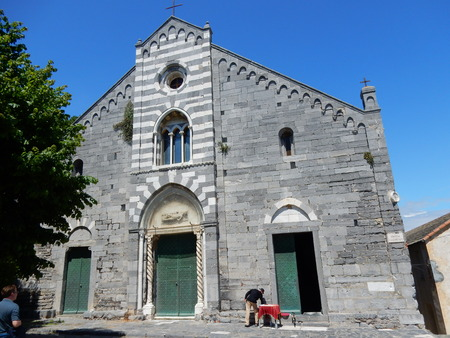 lawrence: Saint Lawrence church, Portovenere Gulf of Poets, Liguria, Italy Stock Photo