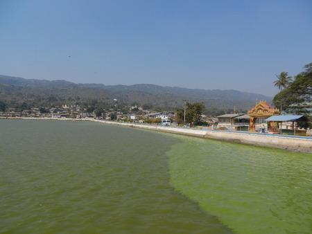 pone: Pindaya, Pone Taloke Lake, Shan State, Myanmar Stock Photo