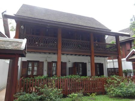 mekong: colonial house in the Mekong Riverside, Luang Prabang, Laos Editorial