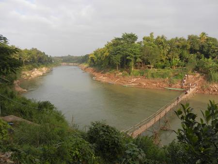 khan: Bamboo Bridge on the Nam Khan River, Luang Prabang, Laos