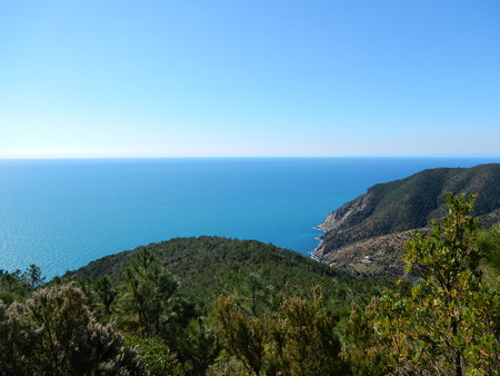 conservacion del agua: hiking between Riva Trigoso and Moneglia, Liguria, Italy