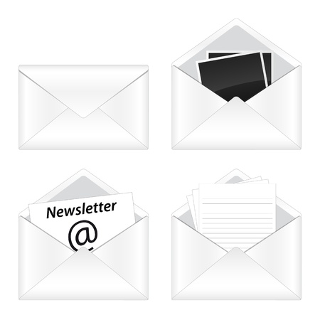 digital news: Set of e-mail icon