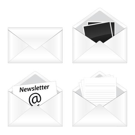 email icon: Set of e-mail icon