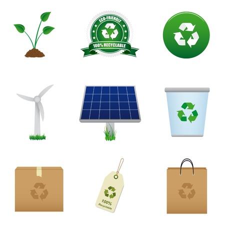 Renewable energy and recycle icon Stock Vector - 9515012