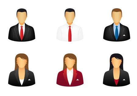 tutor: Conjunto de iconos de personas de negocios Vectores
