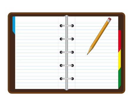 Realistic note book Vector