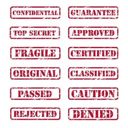 denied: Colecci�n de sellos de caucho de grunge