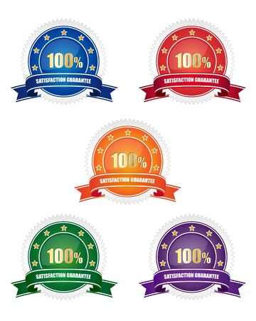 Collection of satisfaction guarantee signs Stock Vector - 9515011