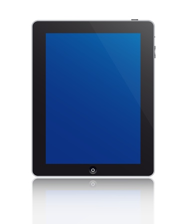 Touch screen tablet illustration Vector